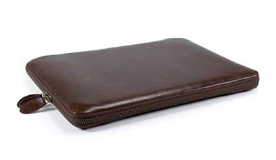 sleek synthetic leather laptop sleeve case
