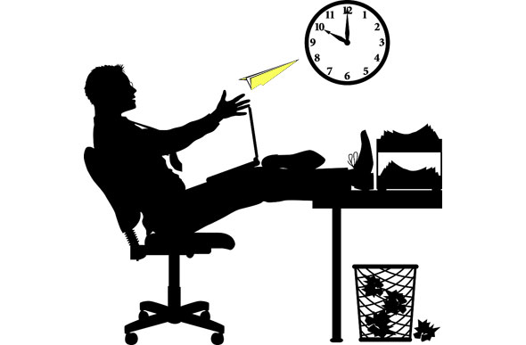 opposite of diligent work ethic: slacking off at work