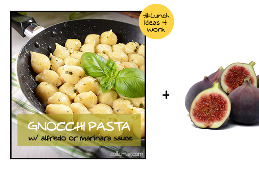 packed lunch idea: gnocchi pasta