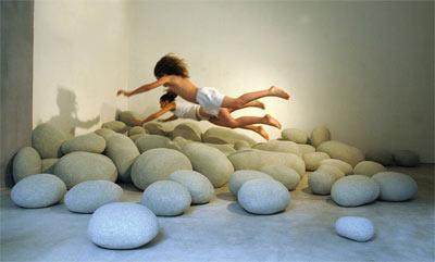 pebble rock pillows