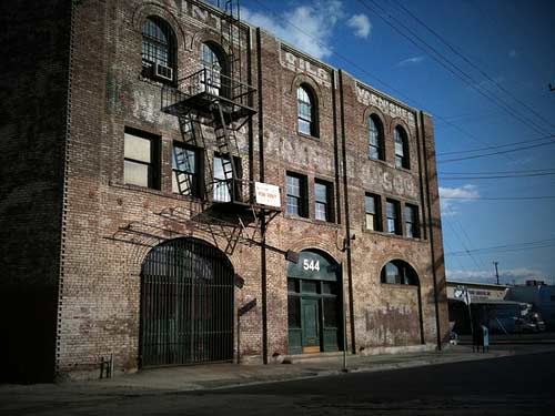 old brick building in los angeles, arts district