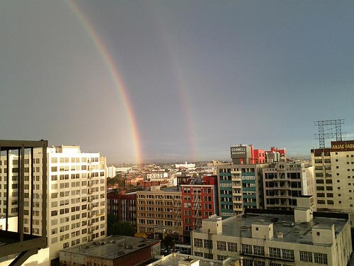 rainbows in la
