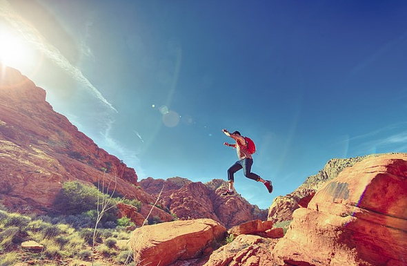 hiking in joy