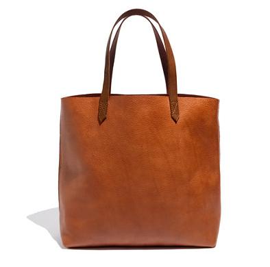 tan leather work tote