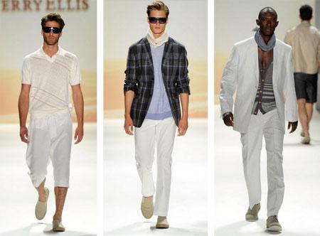 men's white fashion pants