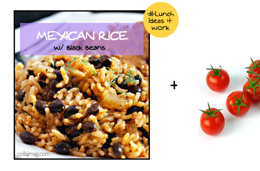 packed lunch idea: mexican rice with salsa or cherry tomatoes