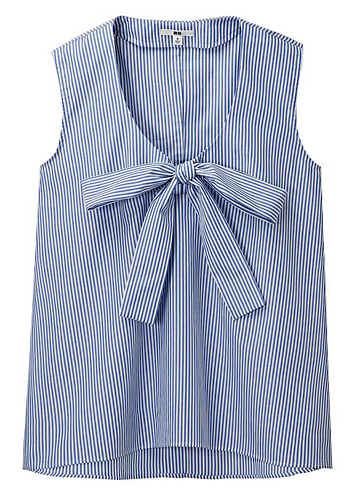 nautical blue and white striped work shirt