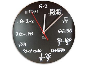 clock for math geeks