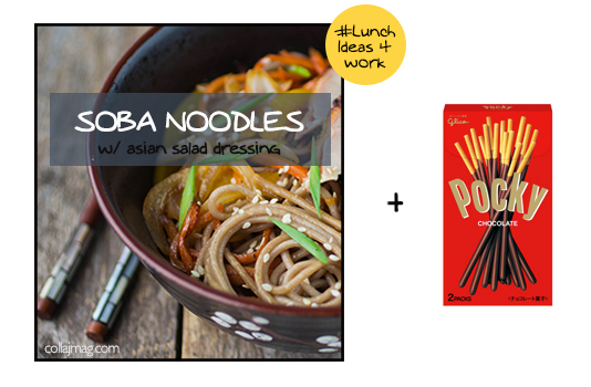 packed lunch idea: soba noodles