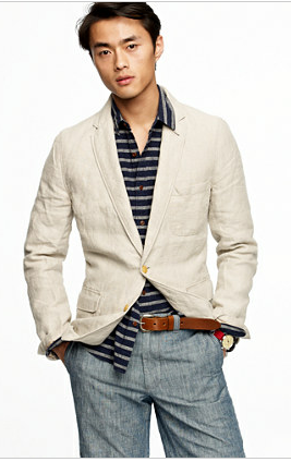 mens sports blazer for work in the summer