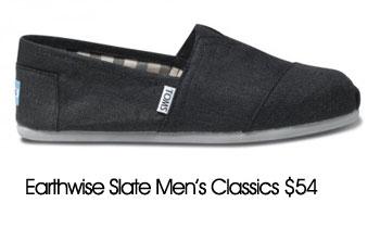 toms men fashion black shoes