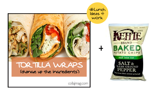 packed lunch idea: tortilla wraps