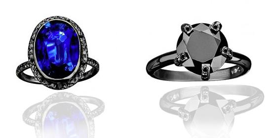 unique engagement ring - gunmetal, edgy
