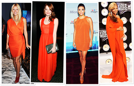 spring fashion color: orange